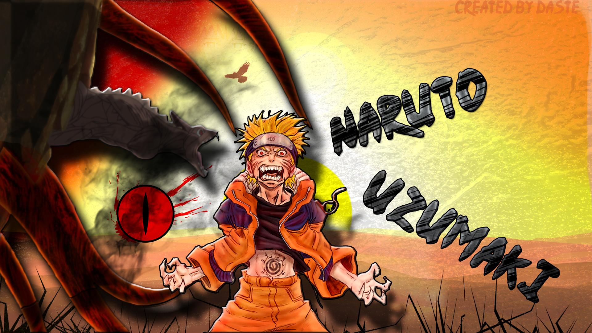 Naruto Uzumaki Kyuubi Rage Wallpaper By Daste2016 On