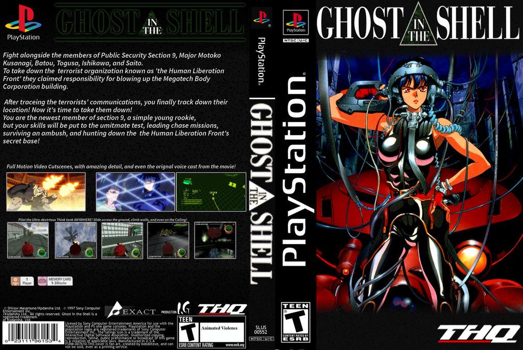 Ghost In The Shell Psone Psx Custom Dvd Box Art By Bobdotexe On Deviantart
