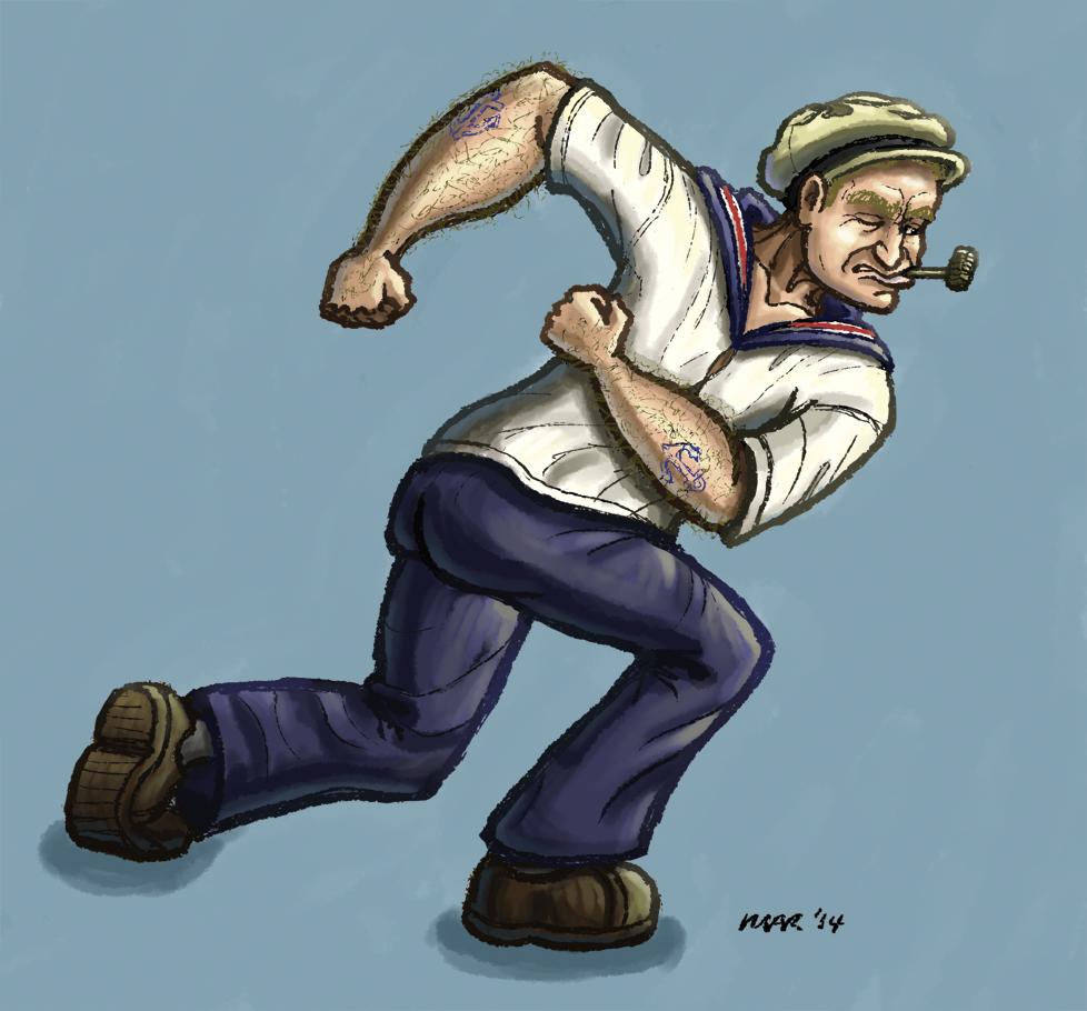 Robin Williams Popeye by gaudog