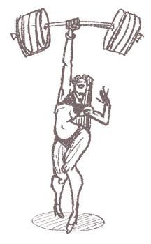 Female Bodybuilder Sketch