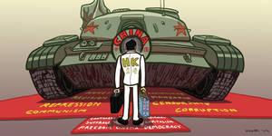 Hong Kong Tank Man by gaudog