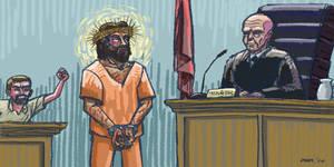 Jesus Courtroom Sketch