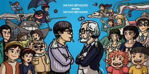 Studio Ghibli Hayao Miyazaki by gaudog