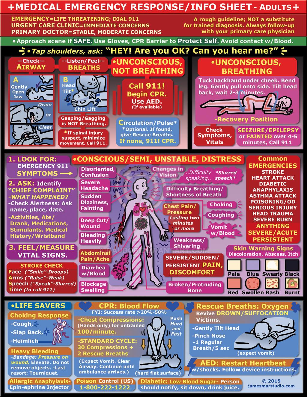 Emergency Response Info Sheet - Adults by gaudog