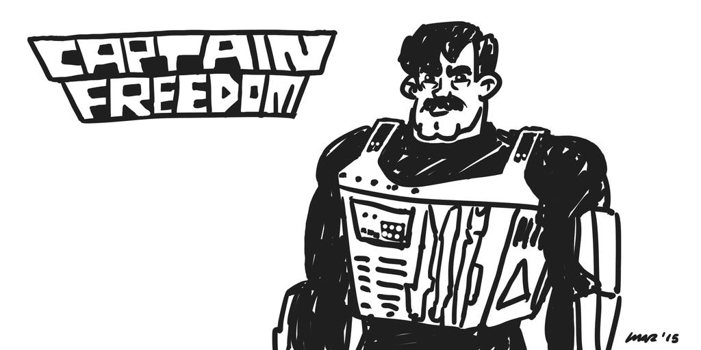 Captain Freedom Metal Sketch by gaudog