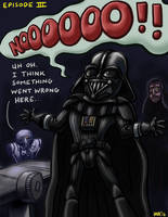 Darth Vader Mask Mishap by gaudog