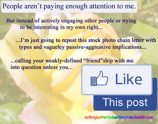 Social Media Chain Letters in a Nutshell by melaphyre