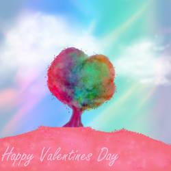 Heart Tree Valentine by melaphyre