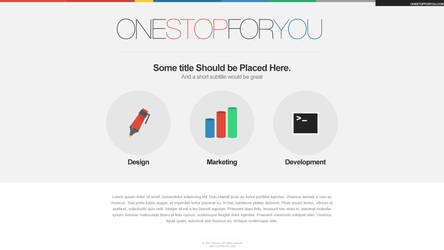 One Stop For You, Main page by L0053R