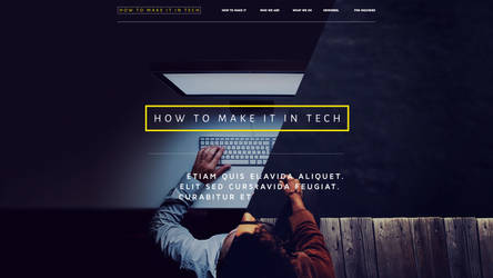 How to make it in tech blog, Main page by L0053R