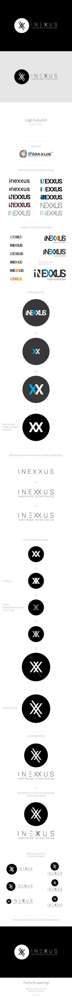 iNexxus. Making the Logo. Step by Step. by L0053R