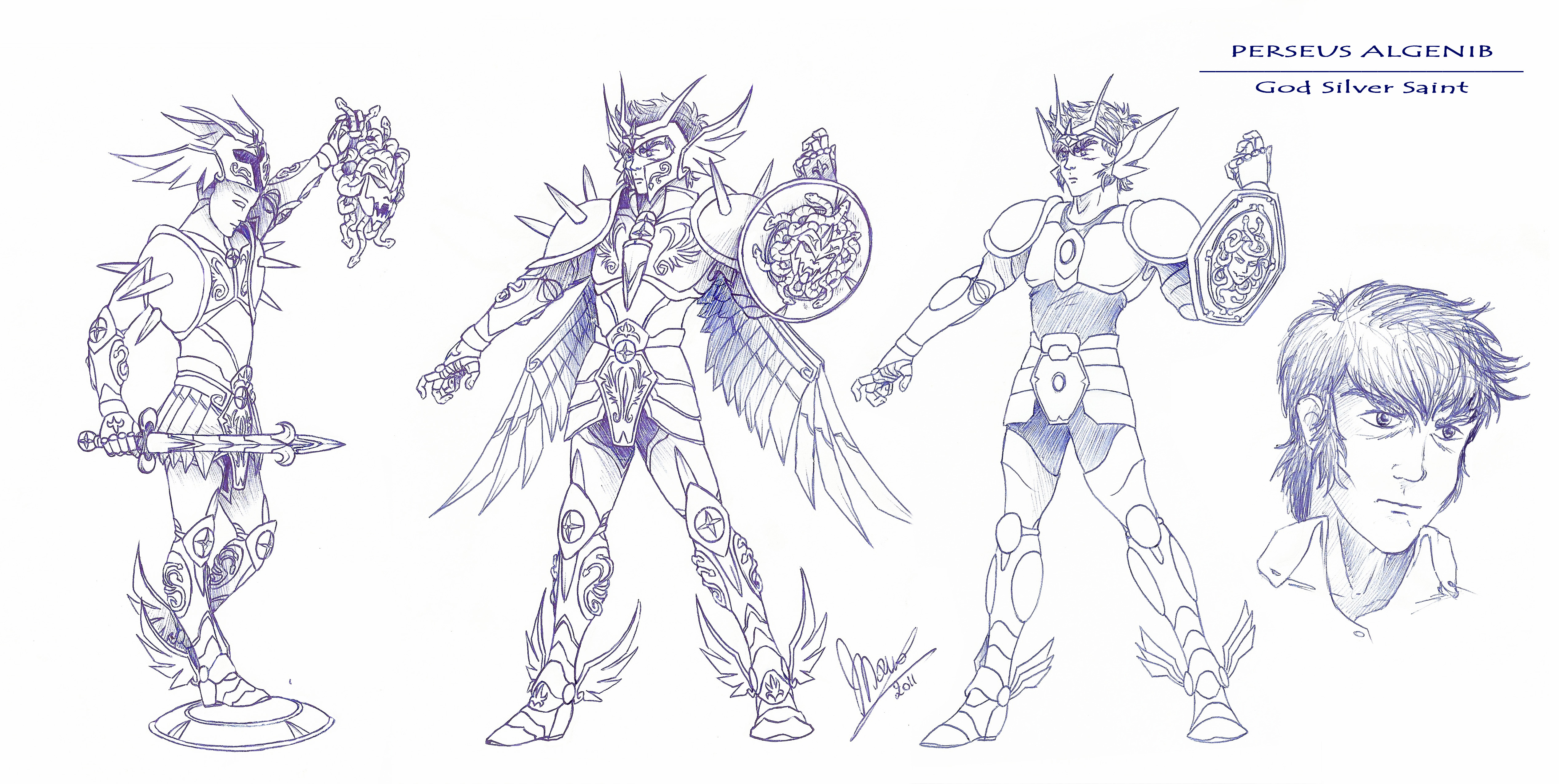 Perseus algenib by sekishiki on deviantart for Cavalieri dello zodiaco da colorare