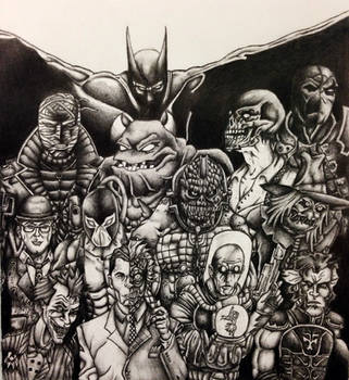 Batman's Rogues by Dachande89
