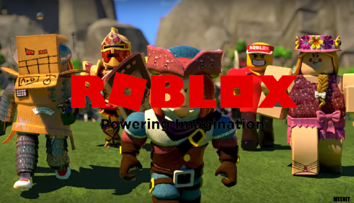 New 2017 Roblox Logo Wallpaper 2 Blocky Team Up By Meenit