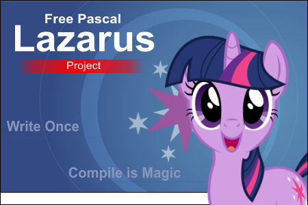 Lazarus Twilight Sparkle custom Splash Screen by Marcsello