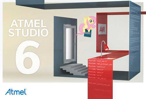 Atmel Studio 6 Fluttershy custom Splash Screen by Marcsello