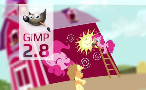 Gimp Pinkie Pie custom Splash screen 2 by Marcsello