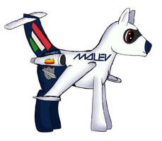 Shadow Hoof as Plane Pony by Marcsello