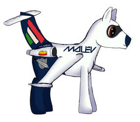 Shadow Hoof as Plane Pony by Marcsello