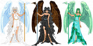 Angels of Life, Death and Destiny by LavenderSeaFairy