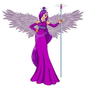 Purple Awarness Ribbon Angel
