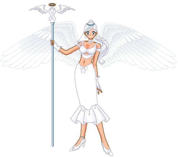 White Ribbon Awarness Angel by Oceanfairydust