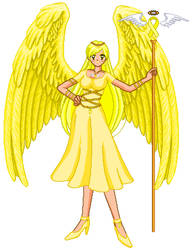 Yellow Ribbon Awarness Angel