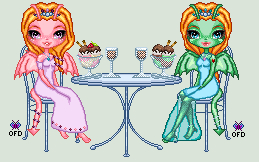 Wildfire and Hope Tea Party by Oceanfairydust