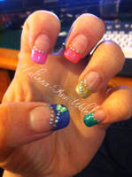 Rainbow nails by hugmemel