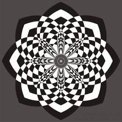 Checkered Blossom by AgentGB