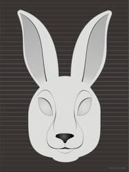 Monochrome Rabbit Face by AgentGB
