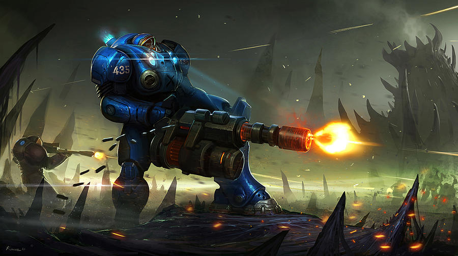 Starcraft fanart by SaeedRamez