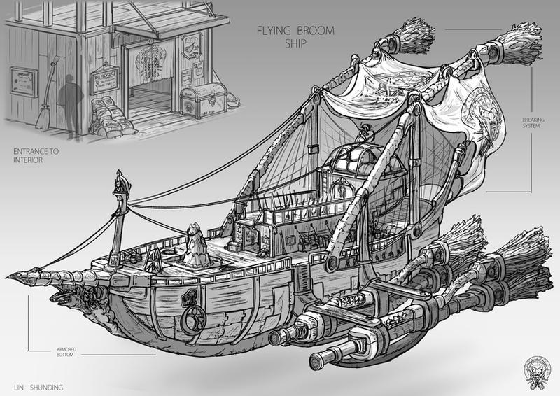 The Flying broom ship by shunding