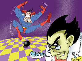 Superhero  and Supervillain by AceKomiks