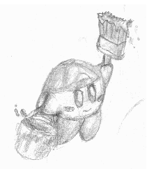 Paint Kirby - pencil art by ShiryuShadow