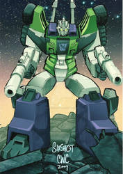 THE TRANSFORMERS: Sixshot in colour