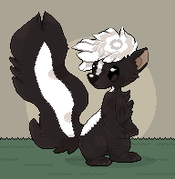 a skunk by X--O