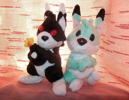 Louie plushies by X--O
