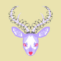 Barbed Wire Deer by X--O