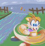 Tails spin attack by X--O