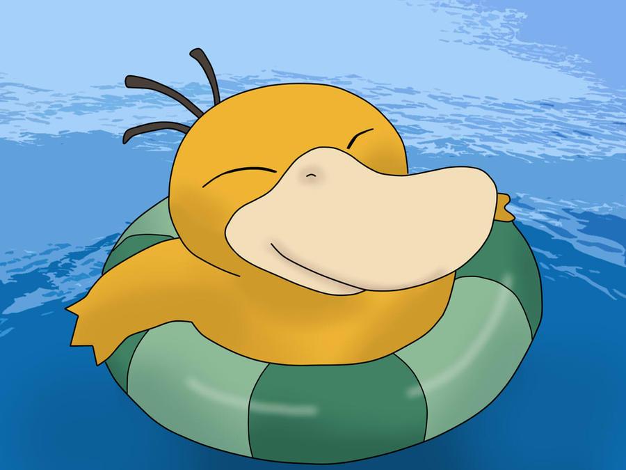 Psyduck Pokemon Psyduck chilling by