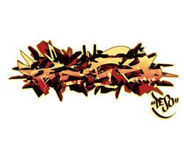 Peso graffiti sketch by P-E-S-O