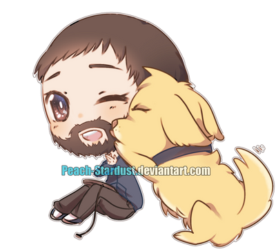 Chibi Commission: Puppy Love by Peach-Stardust