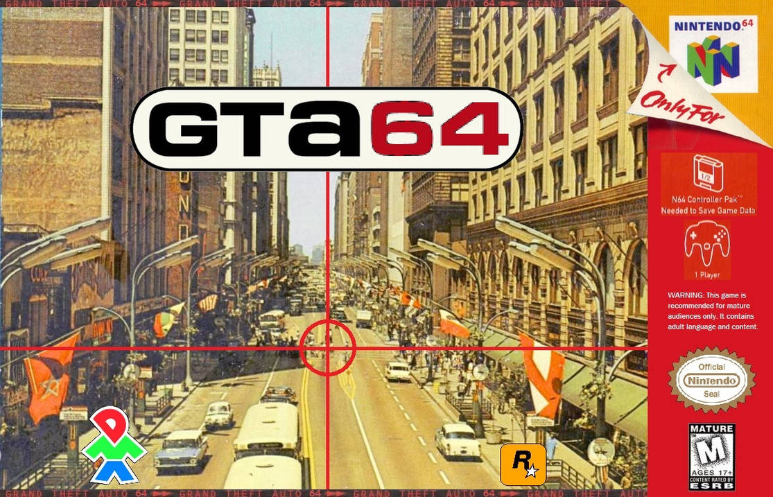 Video Game Cover - GTA 64 (Fan-Made Mockup) by DimitriFaustin on