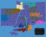 Anywhere City, USA - Gang Territories Map
