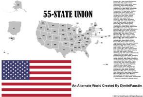 55-State Union - An Alternate World