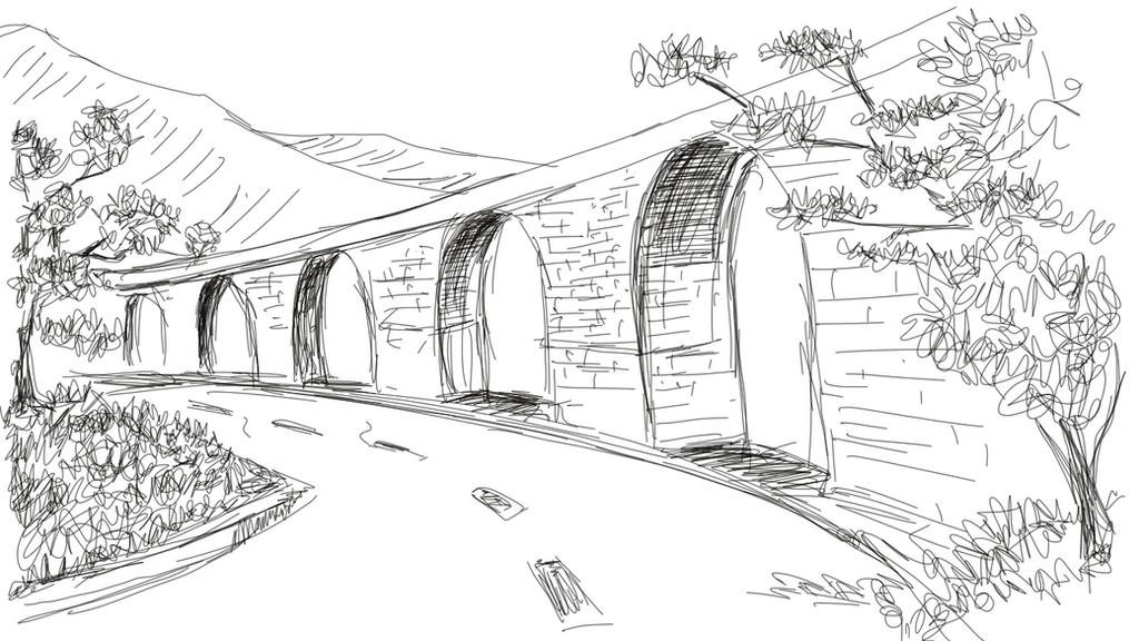Perspective: Sketch a Road by dpthoppil on DeviantArt