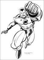 Iron Man 'V' Helmet by johnbeatty