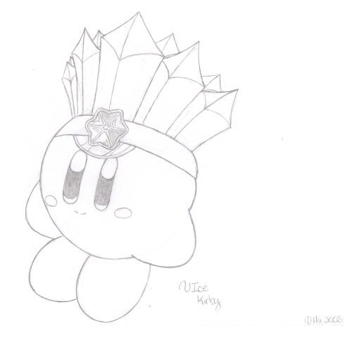 ice kirby coloring pages - photo#3