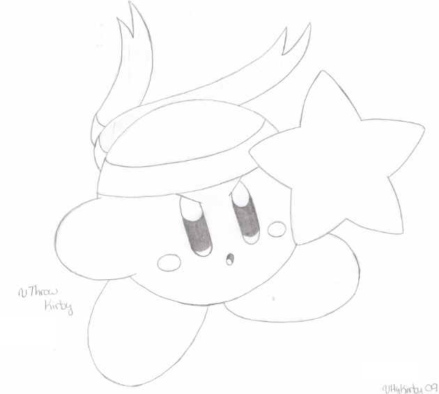 Throw Kirby - drawn by water-kirby on DeviantArt